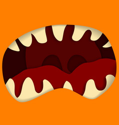 monster mouth and teeth for vector image