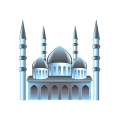 Mosque icon isolated on white vector