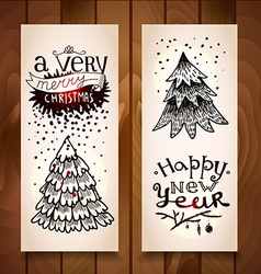 New Year vertical banners vector image vector image
