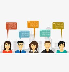 People talk infographic vector