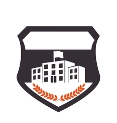 school emblem frame icon vector image vector image