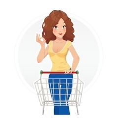 Shopping beautiful girl vector image vector image