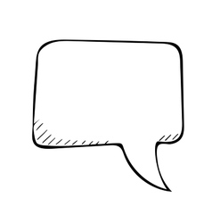 sketchy speech bubble doodle vector image vector image