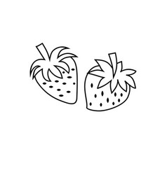 Strawberry icon character 03 vector