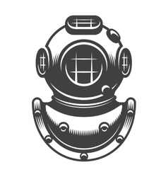 Vintage diving helmet vector image