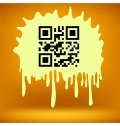 Yellow blot with qr code vector
