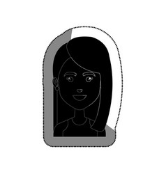 young woman avatar character vector image vector image