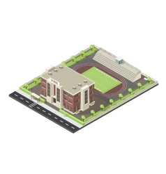 School Isometric Layout vector image