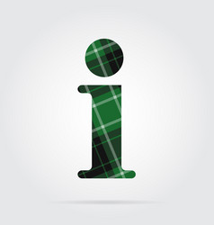 Green black tartan icon - information symbol vector