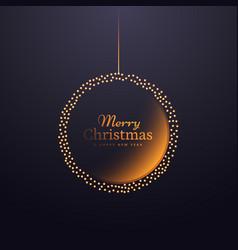 Creative hanging christmas ball decoration design vector