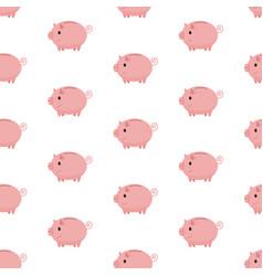 pink piggy bank seamless pattern piggy bank on vector image