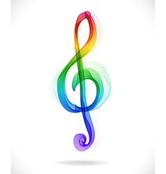 Color abstract treble clef vector