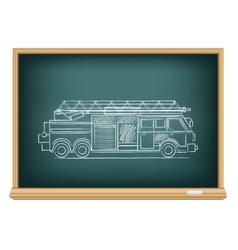 Board fire truck vector
