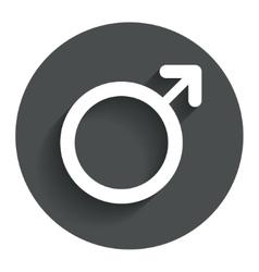 Male sign icon male sex button vector