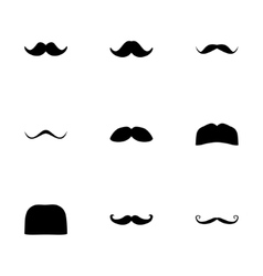 Moustaches icon set vector