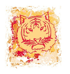 Abstracted grunge tiger vector