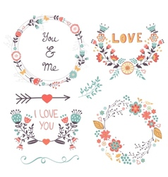 Beautiful romantic collection vector