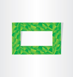 Green polygons eco frame abstract background vector