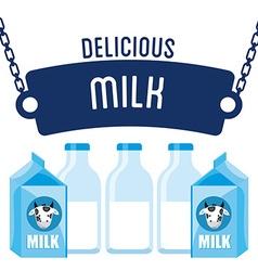 Delicious milk vector
