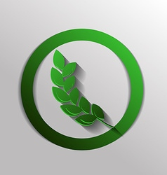 Wheat spike ears icon vector