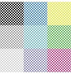 Multicolored squared patterns vector