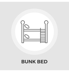 Bunk bed flat icon vector