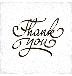 Inscription thank you original handwritten vector