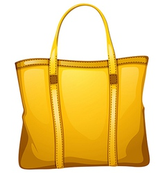 A yellow leather bag vector