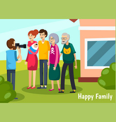 Aged elderly people flat composition vector