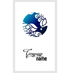 Beautiful mosaic lace logo in stamp style vector image vector image