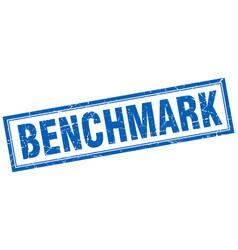 Benchmark square stamp vector