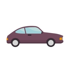 car coupe vehicle vector image