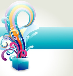 colorful box with floral vector image vector image
