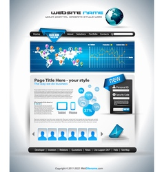 Complex Website Template - Elegant Design vector image vector image