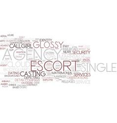 Escort agency word cloud concept vector