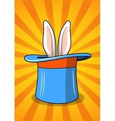 Hat with a rabbit vector