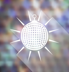 Mirror disco ball icon vector image