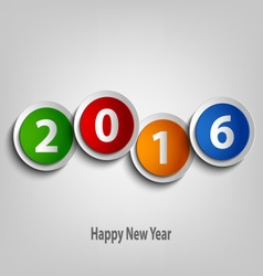 New Year wishes with colorful abstract circles vector image vector image