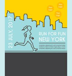 Running marathon poster vector