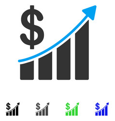 Sales trend flat icon vector