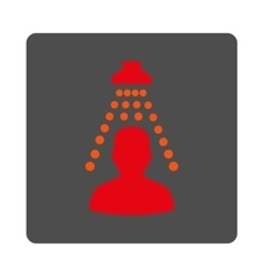 Sickness disinfection rounded square button vector
