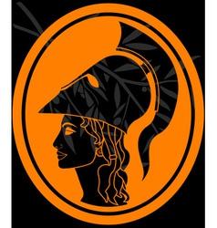 stencil of athena profil vector image vector image