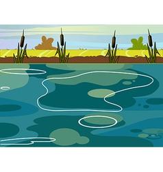 Summer lake view vector
