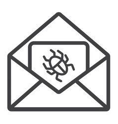 virus in email line icon spam and security vector image