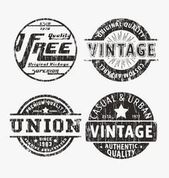 Vntage stamp set vector