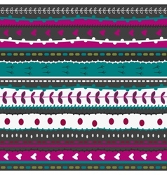 Whimsical embroidery stripes and stitches hand vector image vector image