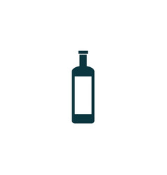 wine bottle icon simple vector image