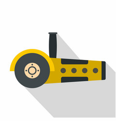 Yellow circular saw icon flat style vector