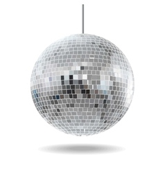 mirror disco ball EPS10 vector image