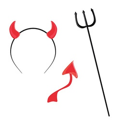 Devil horntail and trident vector